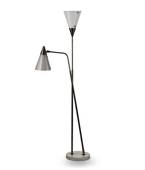 Two arm floor lamp, mod n° 339-2 PX