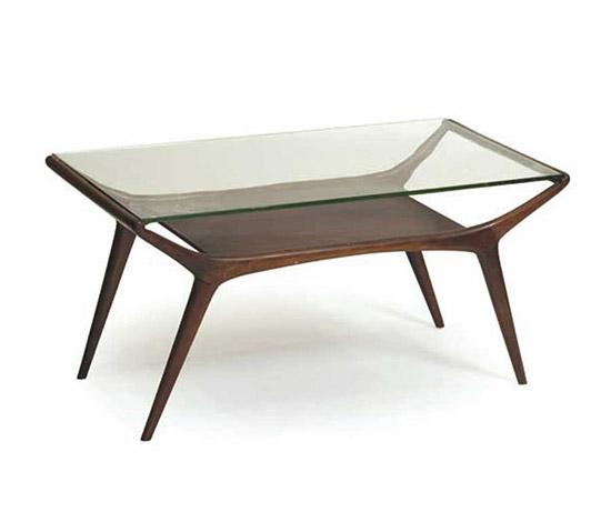 Italian mahogany low table