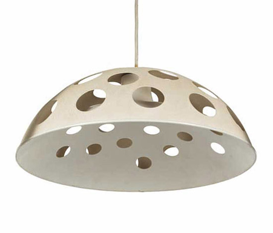 Laquered metal ceiling lamp by Wannenes Art Auctions