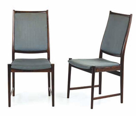 Seven mahogany chairs