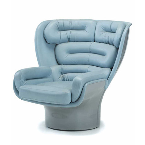 "Fiberglass and leather ""Elda"" armchair"