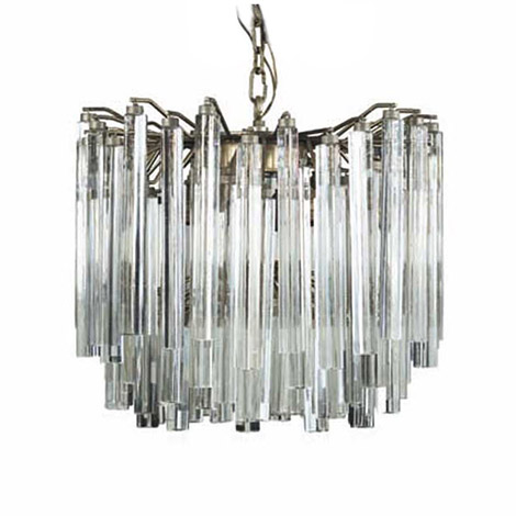 Murano glass chandelier, Trilobo series