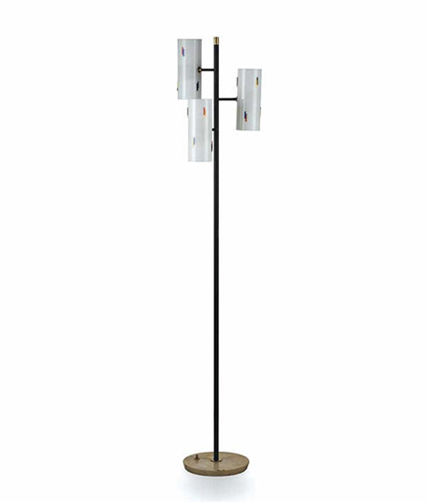 Italian perspex and metal floor lamp