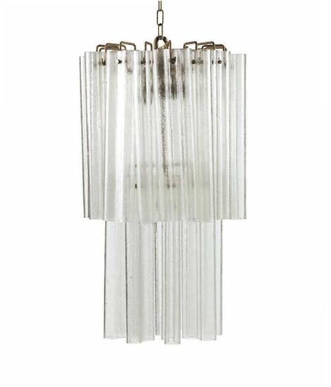 Pair of Murano glass chandeliers