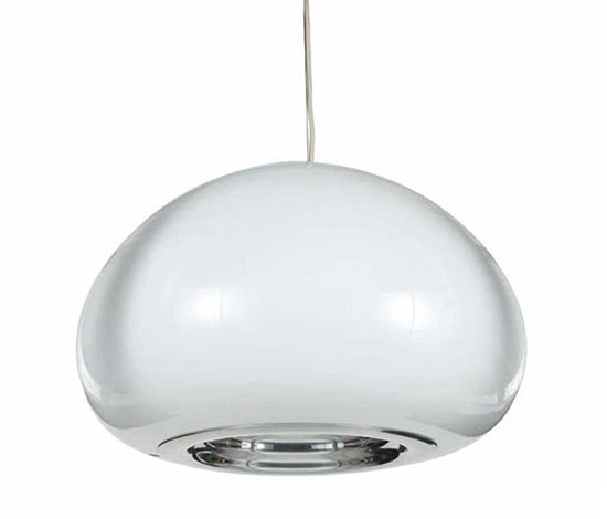 """Wannenes Art Auctions-""""Black and White"""" glass ceiling lamp"""