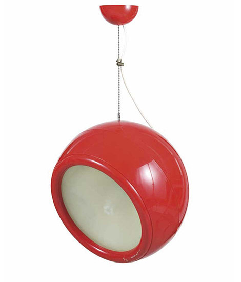 """Pallade"" plastic and glass ceiling lamp"