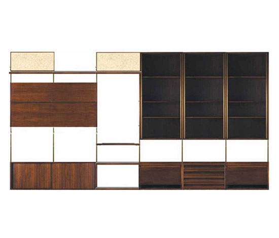 """E22"" rosewood shelving system"