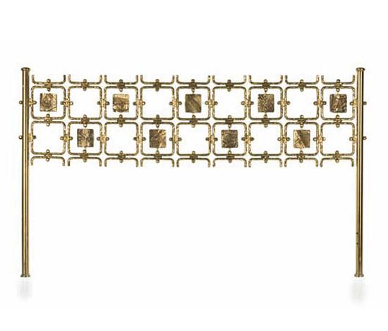 Golden brass bedhead