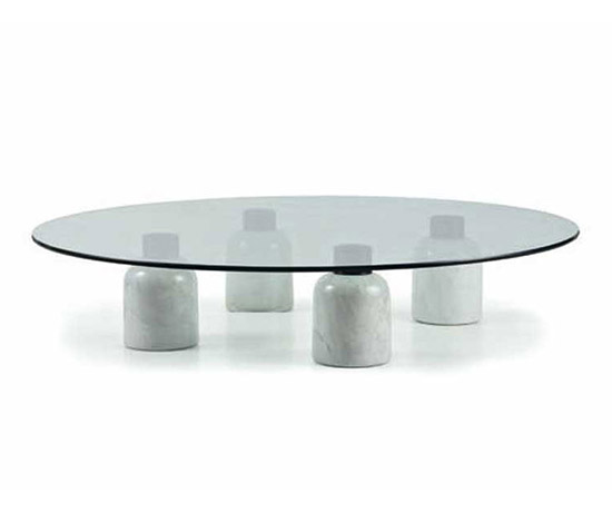 Crystal and marble low table
