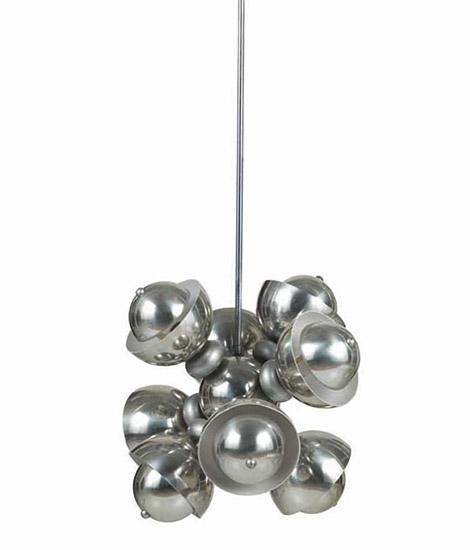 Italian aluminium ceiling lamp