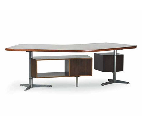 "Wood and metal ""T96"" desk by Wannenes Art Auctions"
