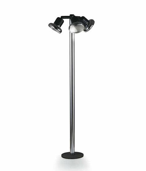 """Trepiù"" steel/plastic floor lamp"