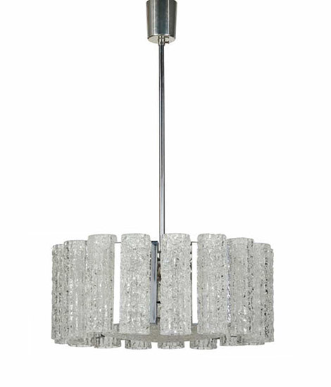 Italian glass ceiling lamp