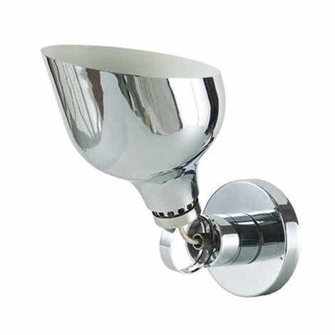 Chromium plated steel sconces, AM6B