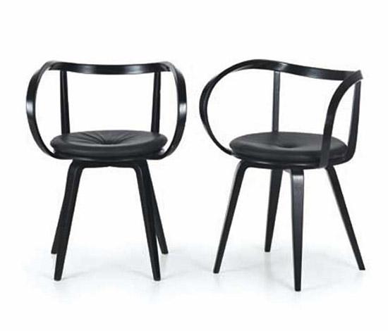 """Wannenes Art Auctions-Four wooden """"Pretzel"""" chairs"""
