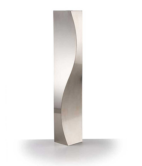 Polished steel vase