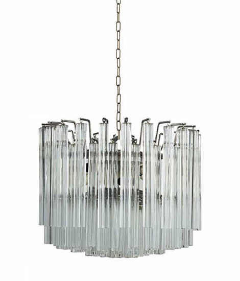 Wannenes Art Auctions-Pair of Murano glass chandeliers