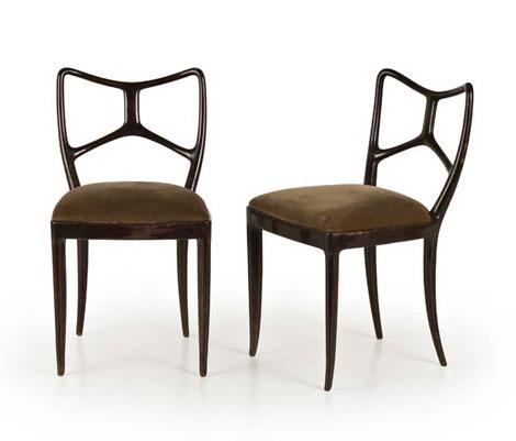 Six mahogany chairs