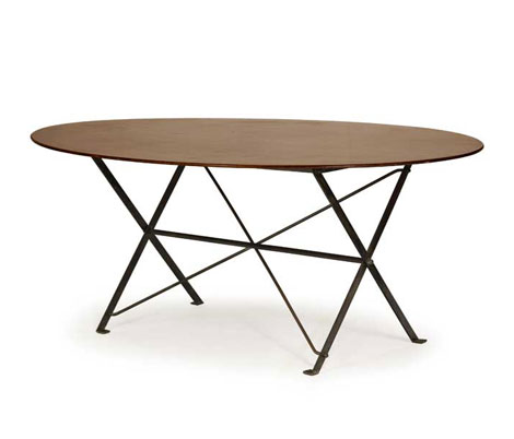 Wannenes Art Auctions-Mahogany and brass table