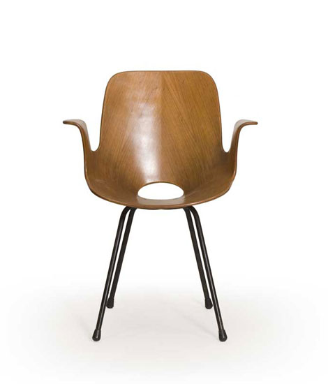 Metal / plywood chairs, model Medea