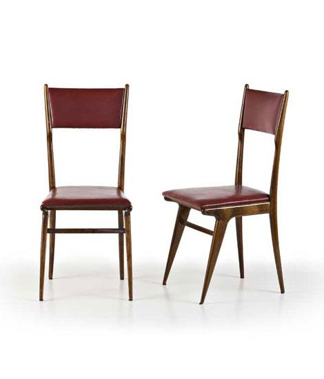Six wood chairs