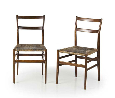 "Six ""Leggera"" chairs"