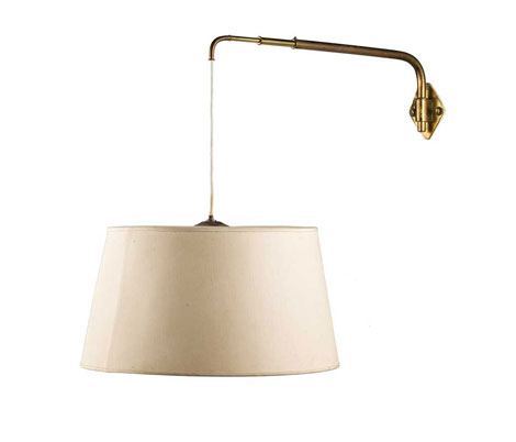 Italian brass wall lamp