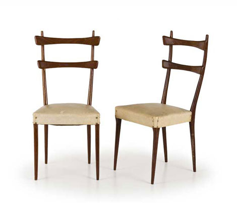 Four italian wood chairs