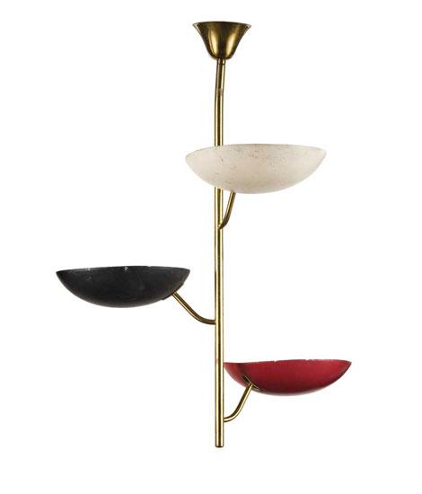 Metal laquered ceiling lamp