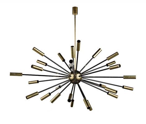 "Brass ceiling lamp ""Sputnik"""