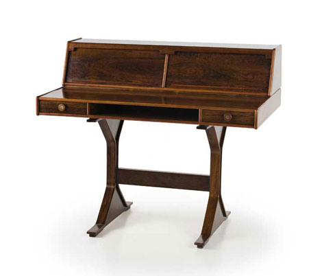 Rosewood writing desk, mod. 530
