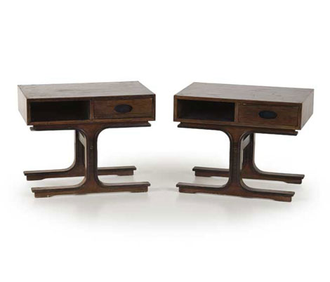 Pair of rosewood night tables