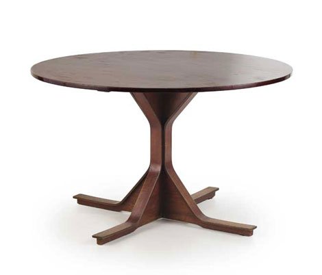 Rosewood table, mod n° 522