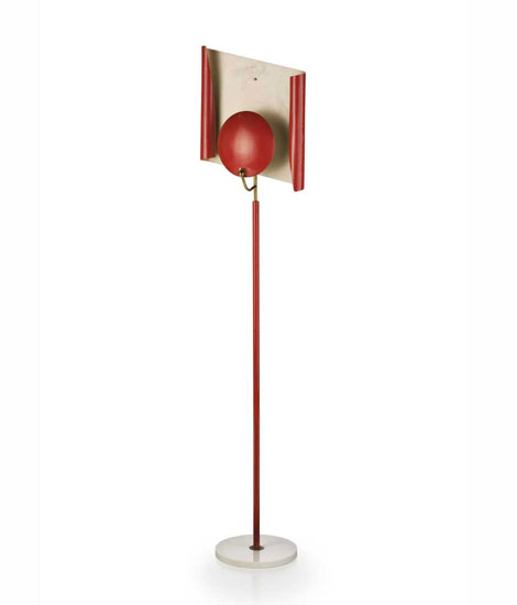 Italian metal laquered floor lamp