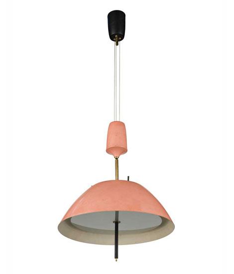 Metal ceiling lamp, mod n° 568