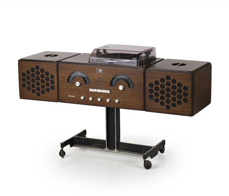Wood stereophonic system, mod. rr126 by Wannenes Art Auctions