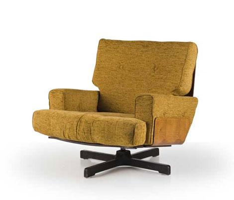 Wood armchair, mod. 401