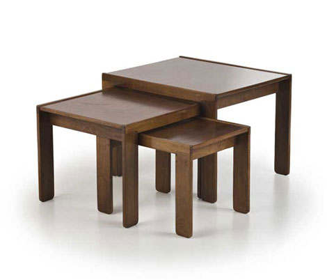 Three walnut sofa tables, serie 777