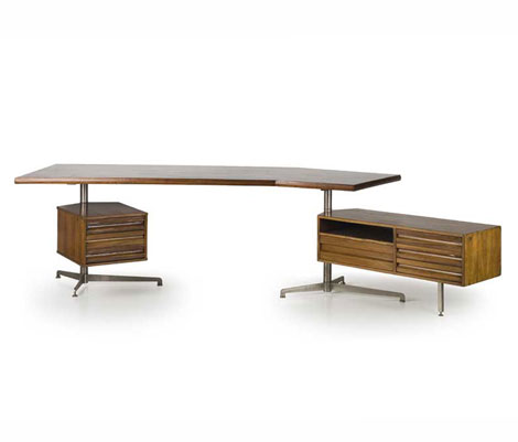 Rosewood and metal desk by Wannenes Art Auctions
