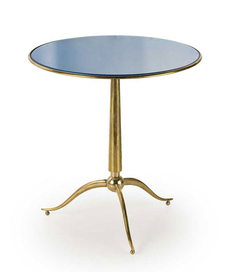 Brass and glass smoking table