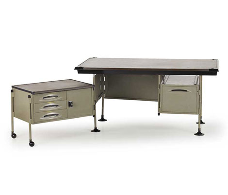 "Metal office desk, ""Spazio"" series"