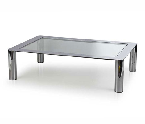 Chromium plated sofa table, mod.91 by Wannenes Art Auctions