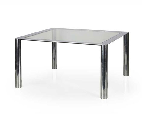 Chromium plated steel table, mod 912