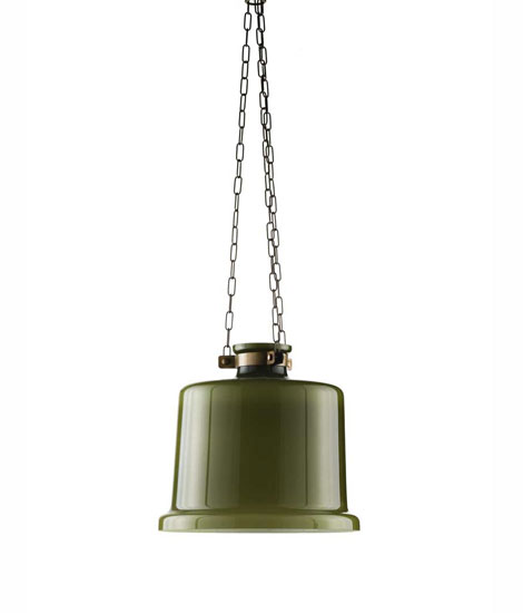 Glass and metal ceiling lamp, mod 2120