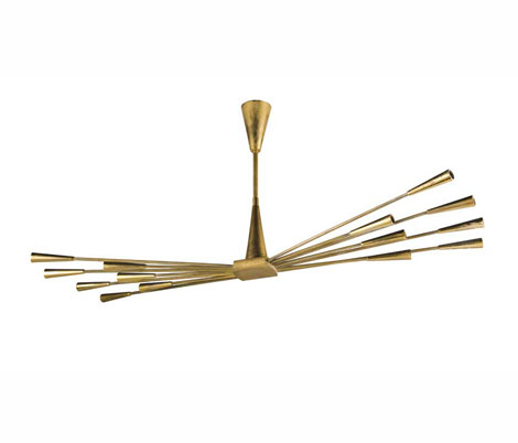 Brass ceiling lamp