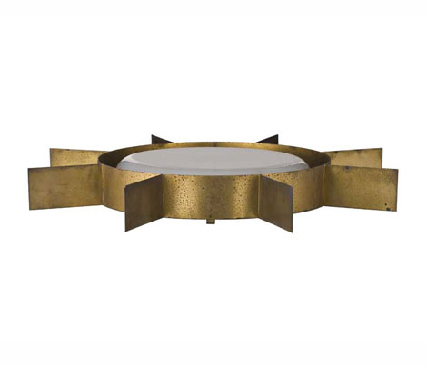 Wannenes Art Auctions-Brass and perspex ceiling lamp