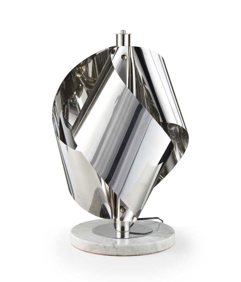 Italian metal table lamp