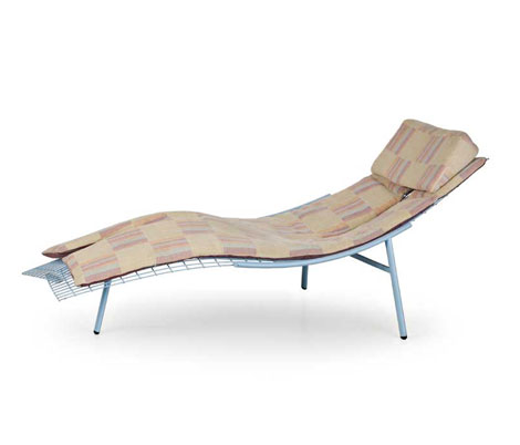 "Metal chaise longue ""Swing-rete"""