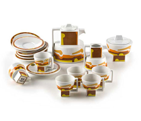 "Ceramic coffee service ""Cubicon"""