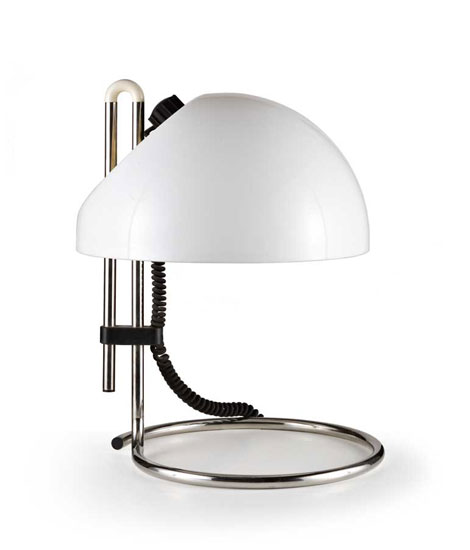 Plastic and metal table lamp, n°4026